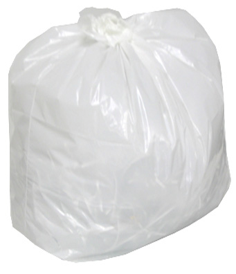 White Garbage bag