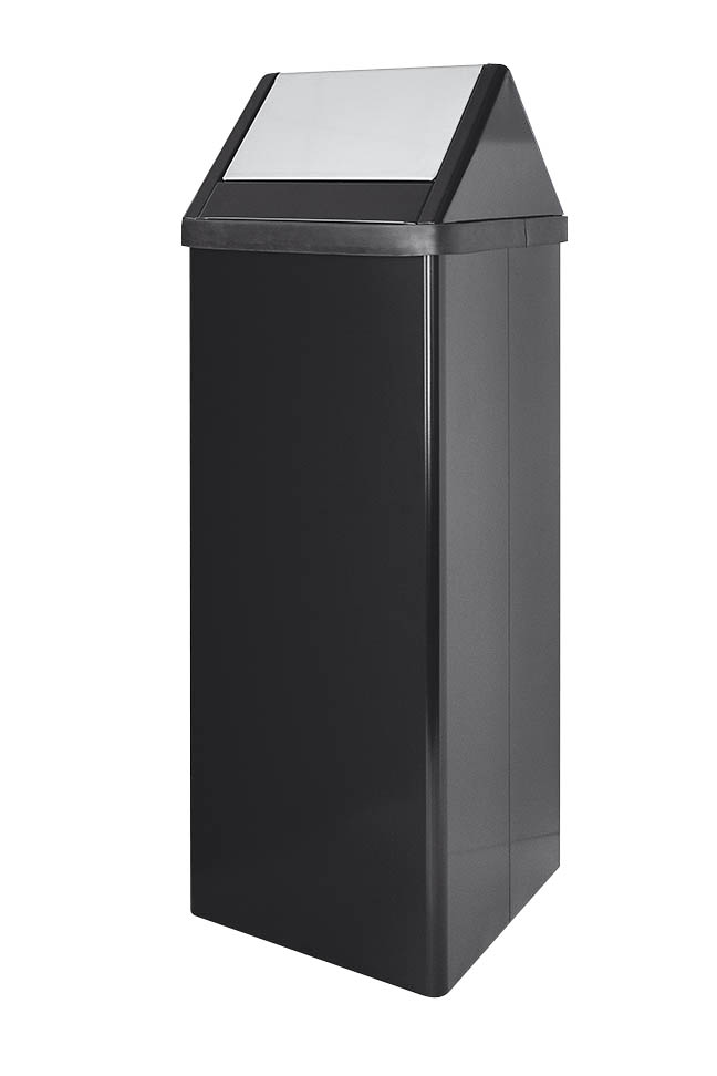 Bin with swing top cover