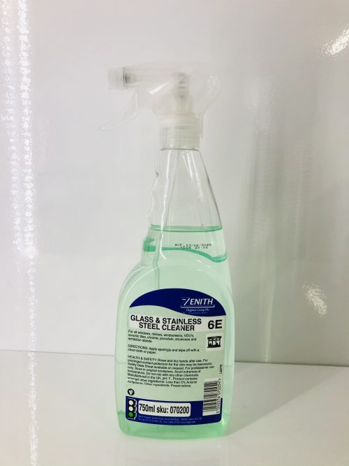6E Glass & Stainless Steel Cleaner