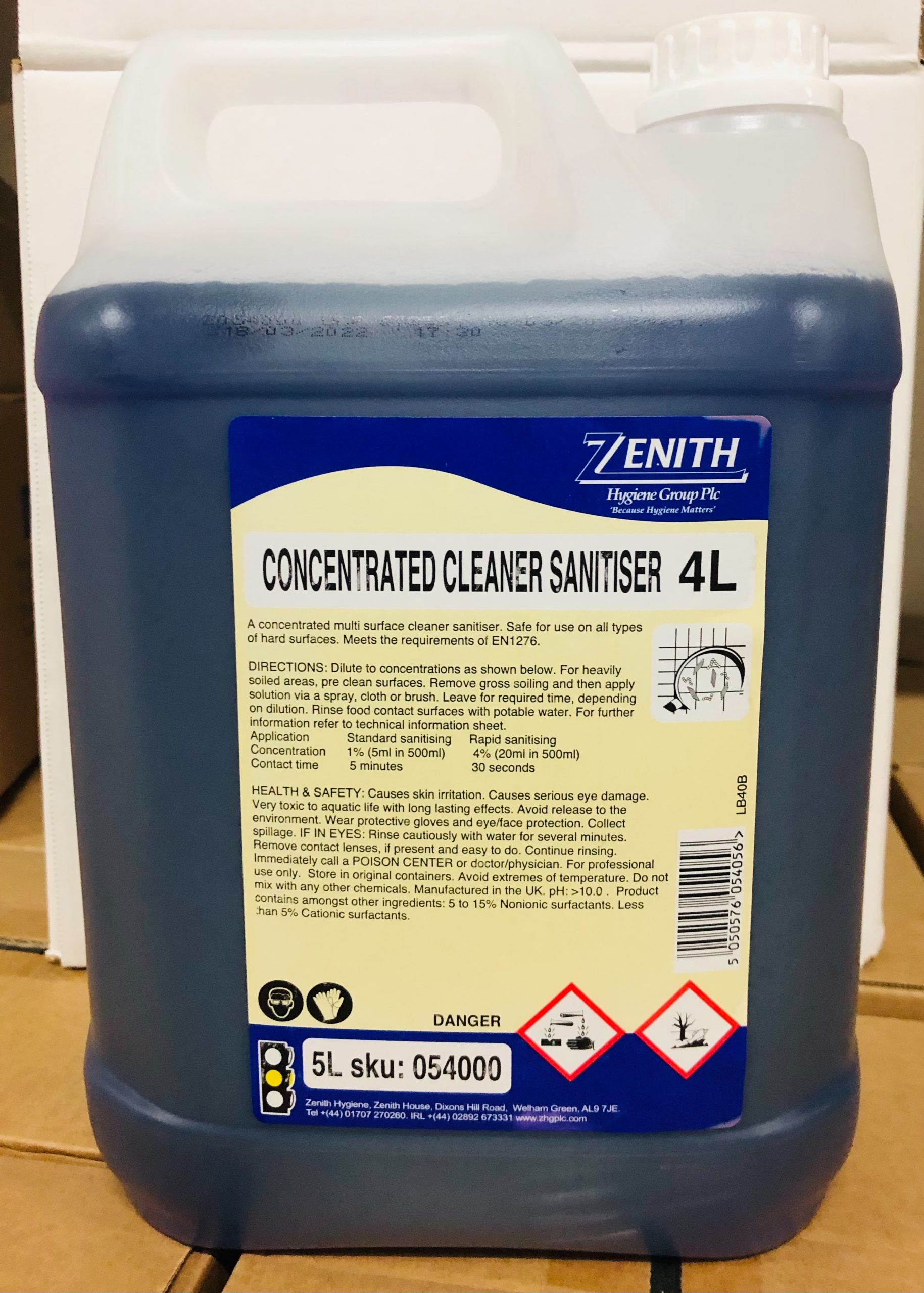 4L Cleaner Sanitizer Concentrate