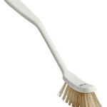 Brush w/Heat Resistant Filaments, Stiff , White
