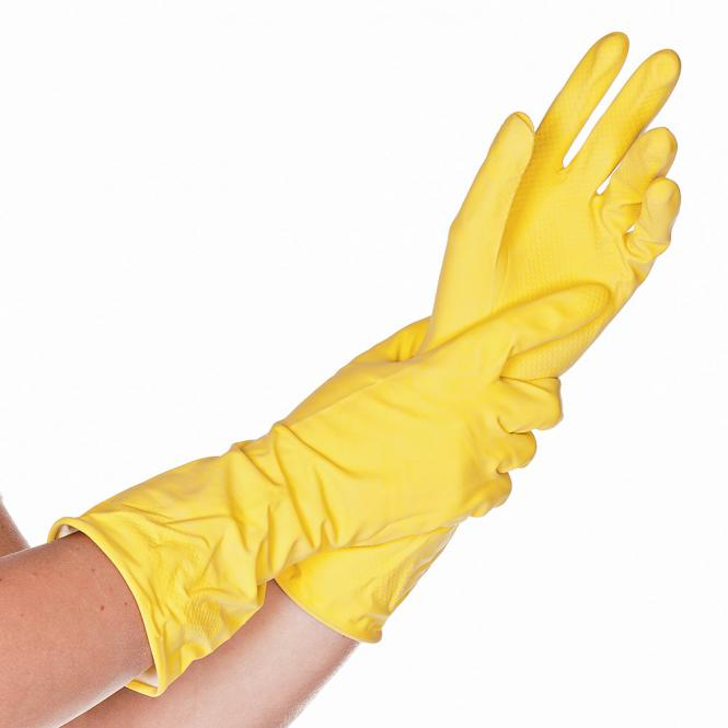 Gloves Rubber Yellow