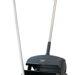 Dustpan set closed with broom and squeegee, 330 mm, Grey