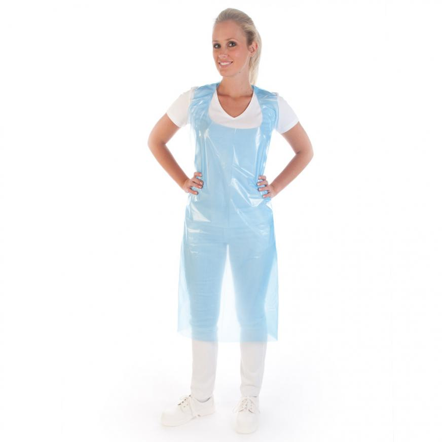 Disposable aprons on roll, 16my   LDPE